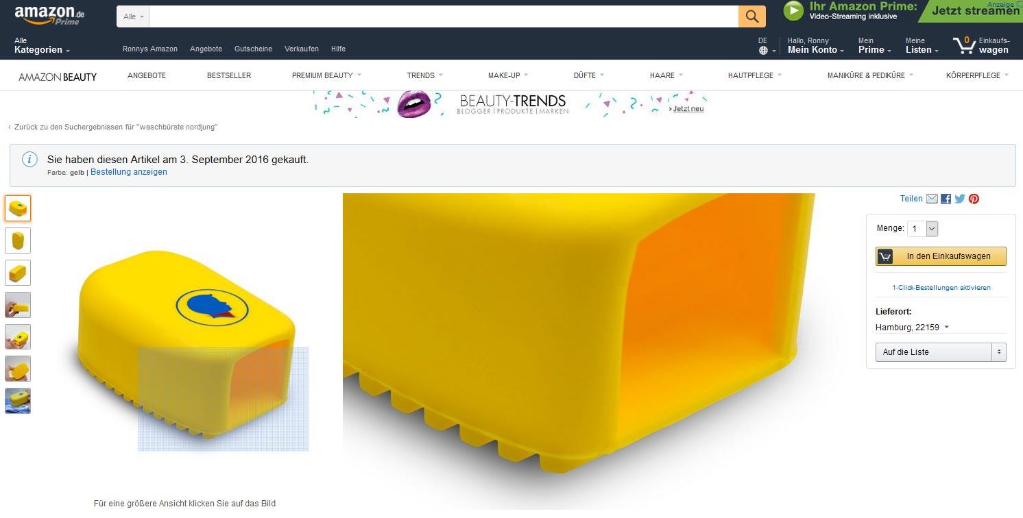 Amazon Produktseite altes Layout Zoom-Ansicht