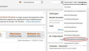 Amazon SellerCentral Screenshot