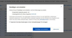ebay Impressum ODR-Verordnung aktualisieren