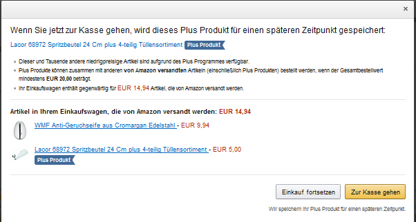 Amazon-PlusProgramm-Einkaufkorb
