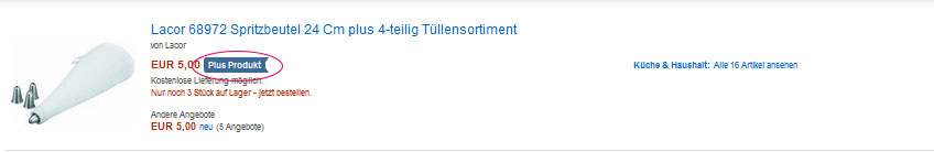 Amazon-PlusProgramm-Suchfunktion