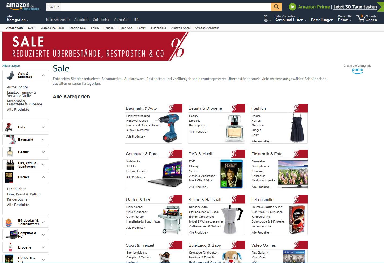 Amazon Abverkauf Sale
