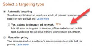 Erweitertes Werbenetzwerk von Amazon nutzen