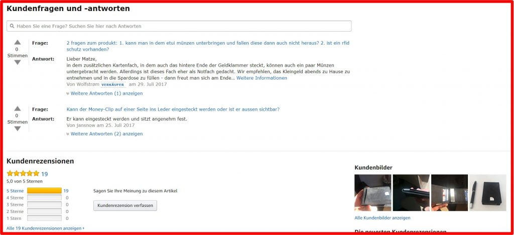 Amazon-rezensionen-bereich