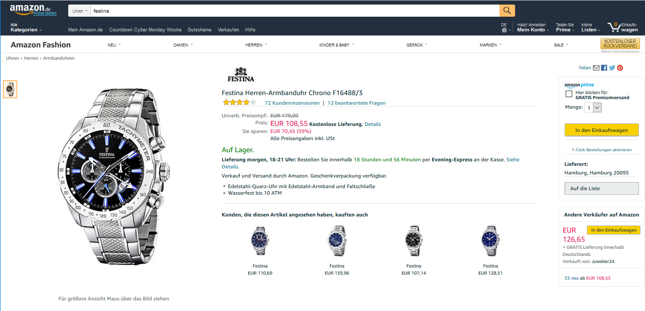 Amazon Marketing Weiterleitung