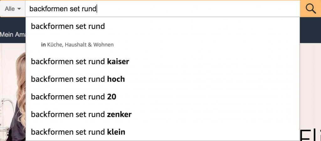 Auswahl von Longtail Keywords bei Amazon