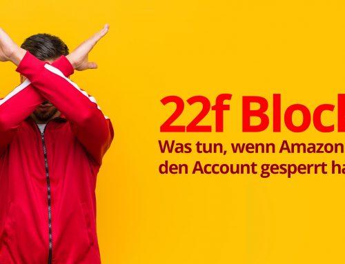Amazon 22f Steuerbescheinigung Seller Account gesperrt