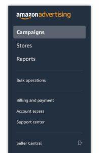 amazon-advertising-console-menu