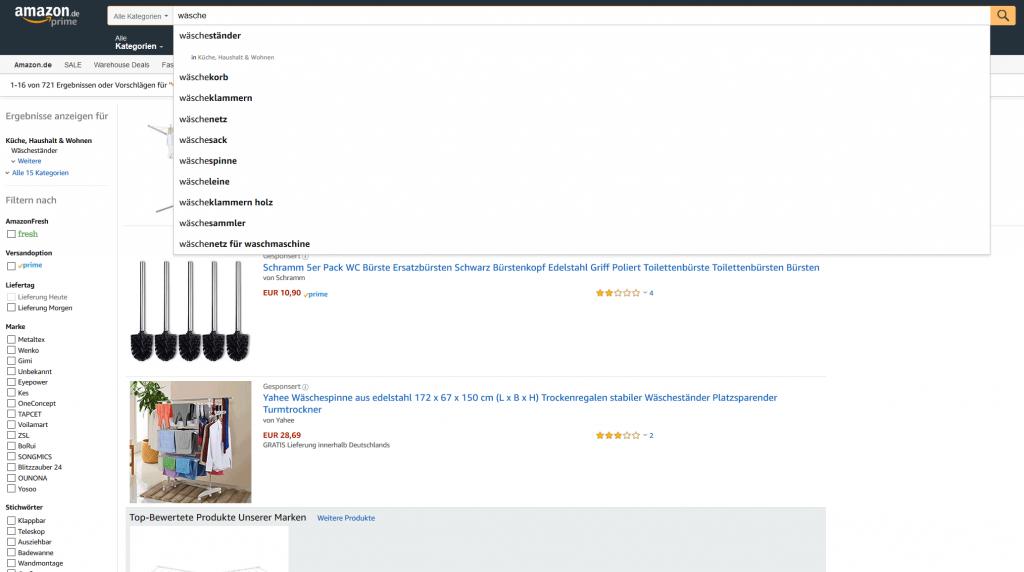 Amazon Autosuggest