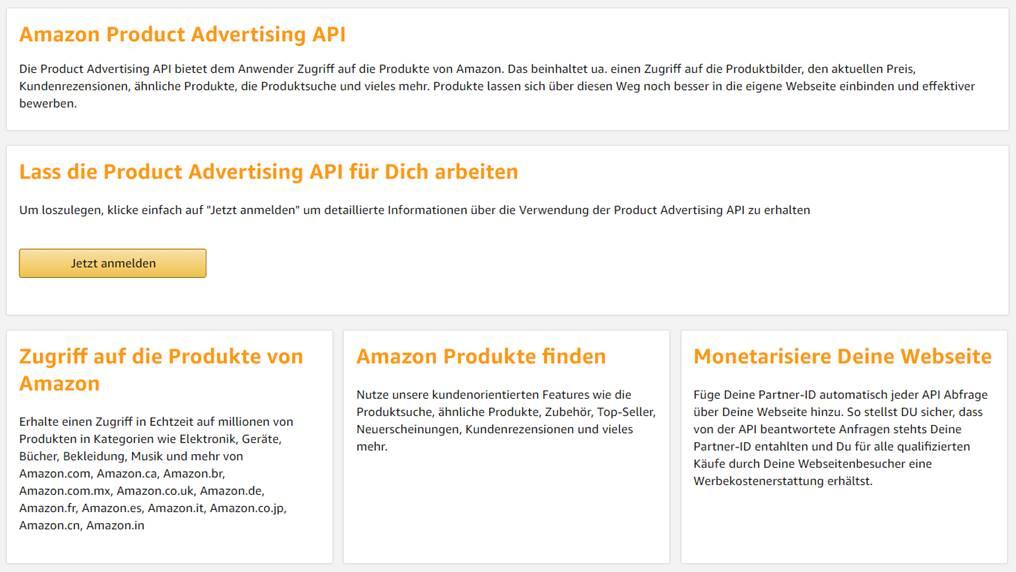 amazon partnernet product advertising api - Amazon Bewerbung