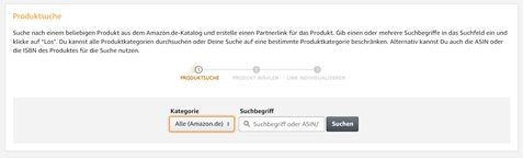 amazon partnernet produktlinks