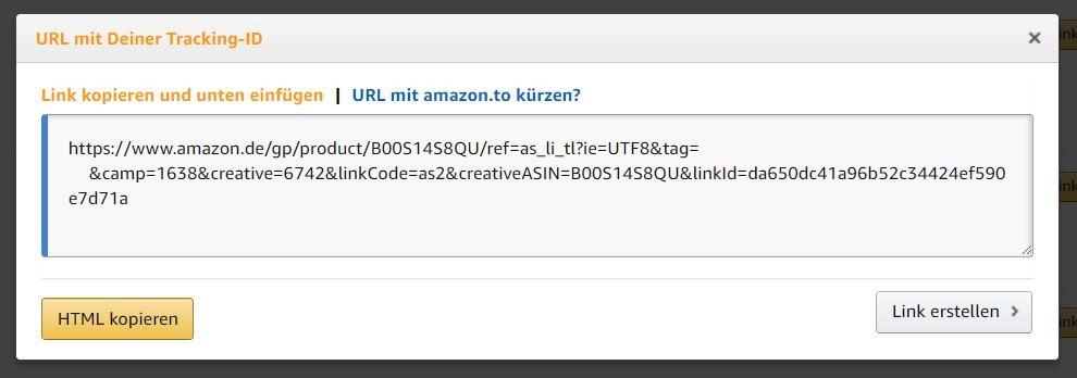 amazon partnernet produktlinks suchergebnisse individualisieren 1
