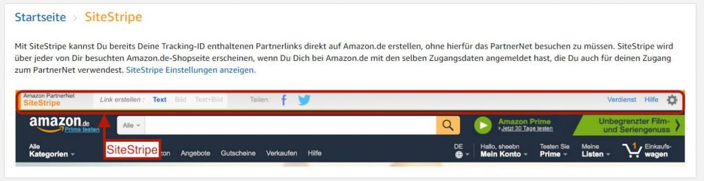 amazon partnernet sitestripe