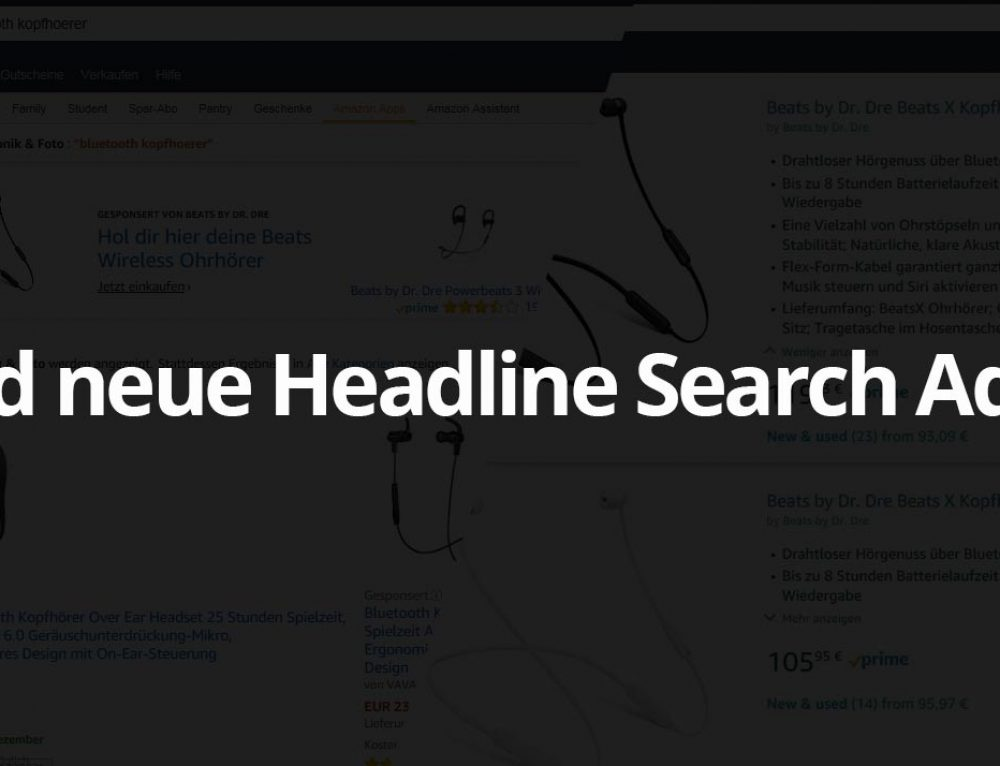 Amazon Update: neue Designs für Headline Search Ads