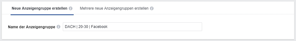 facebook ads werbeanzeige name
