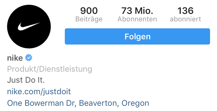 instagram-nike-verkaufsplattform